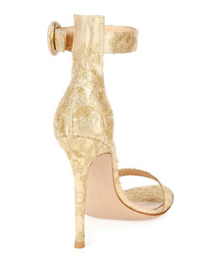 Portofino Brocade Ankle-Strap Sandal