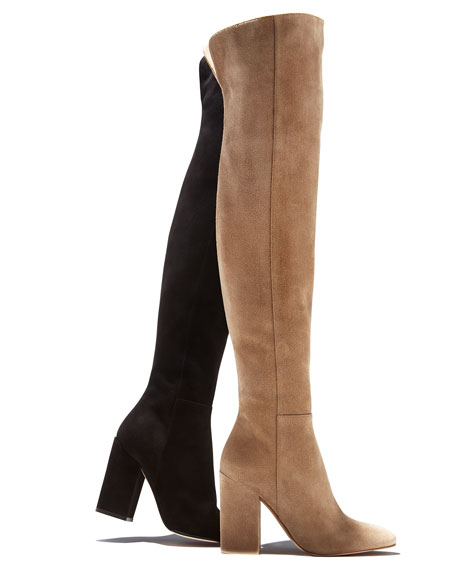 Seamed Suede 100mm Tall Boot