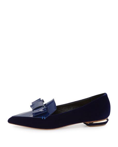 Beya Velvet Point-Toe Loafer