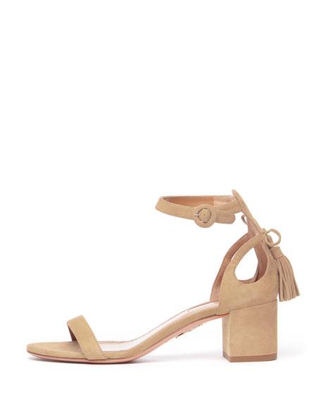 Pixie Suede Block-Heel Sandal