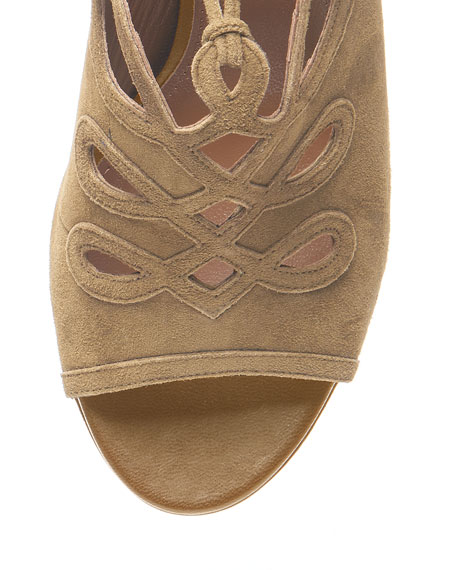 Sergeant Suede Ankle-Tie Sandal