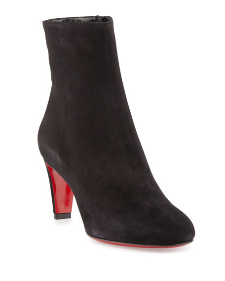 Top 70 Suede Red Sole Ankle Boots, Black