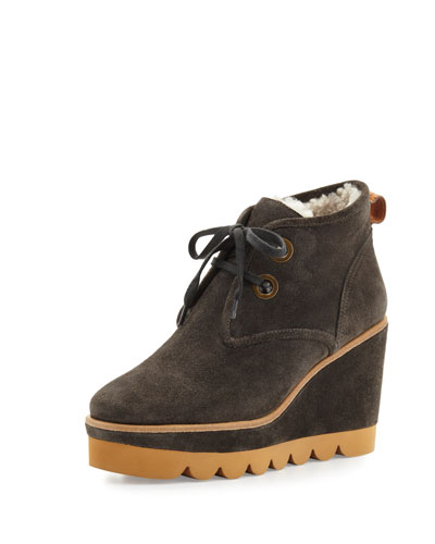 Ethel Shearling-Lined Suede Desert Boot