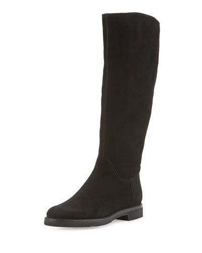 Tall Suede Boot, Black