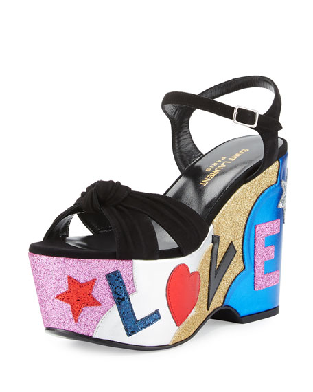 4f22cb1e3ed1 Saint Laurent Candy Love Wedge Sandal