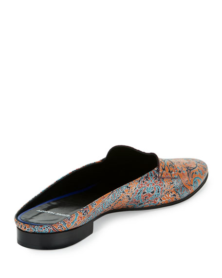 Jacno Printed Leather Loafer Mule, Multi