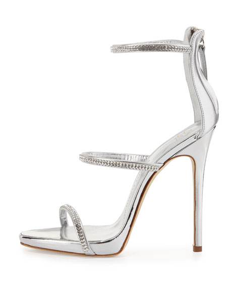 4913962440e9b Giuseppe Zanotti Jeweled Three-Strap 110mm Sandal