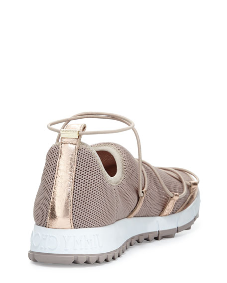 Andrea Strappy Mesh Sneaker, Tea Rose