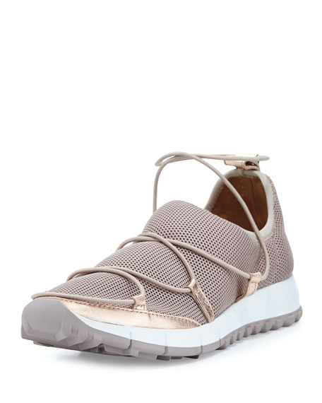 Jimmy Choo Andrea Strappy Mesh Sneaker, Tea Rose