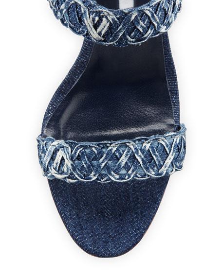 Kaotic Woven Denim Sandal