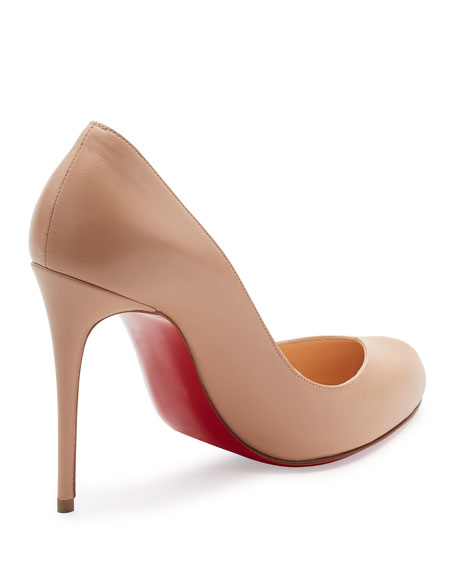 Breche Leather 100mm Red Sole Pump