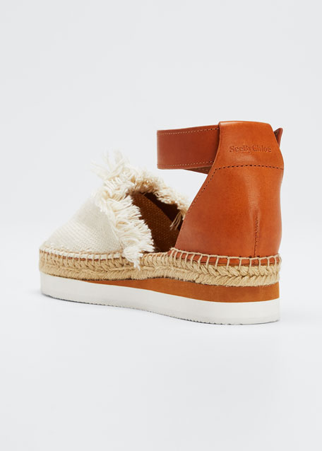 Glyn Canvas & Leather Espadrille