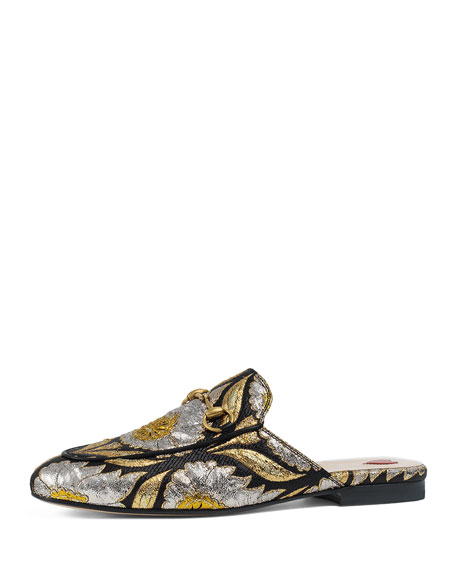 Gucci Flat Princetown Jacquard Mule