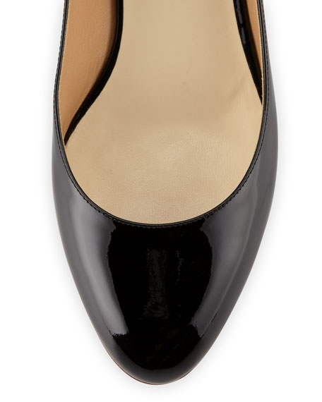 Patent Ankle-Strap Ballerina Flat with Bunny Ears