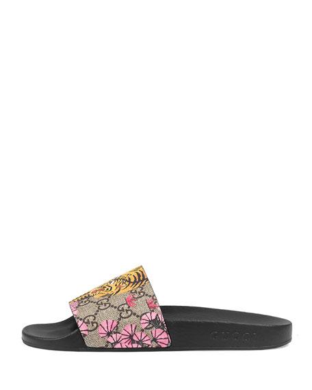 c2052bba8623cd Gucci Pursuit Bengal-Print Canvas Sandal
