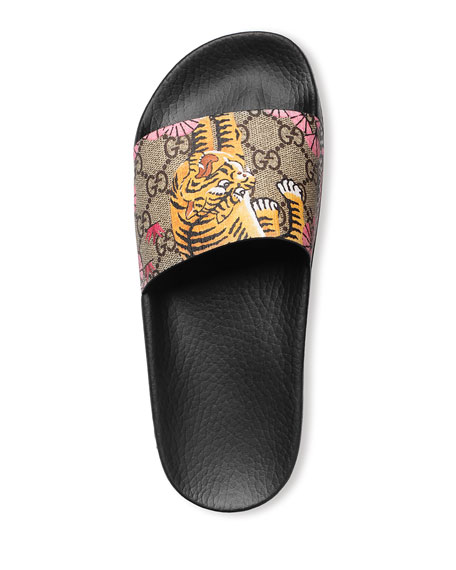 Pursuit Bengal-Print Canvas Sandal, Black