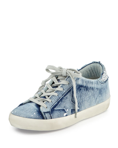 Denim Low-Top Sneaker, Bleached