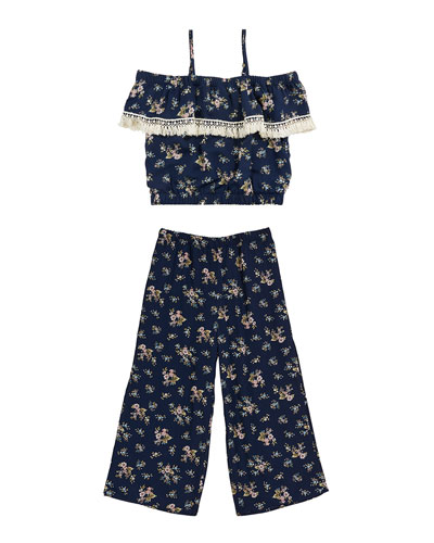 Floral Wide Leg Pants  Size 7-16  and Matching Items