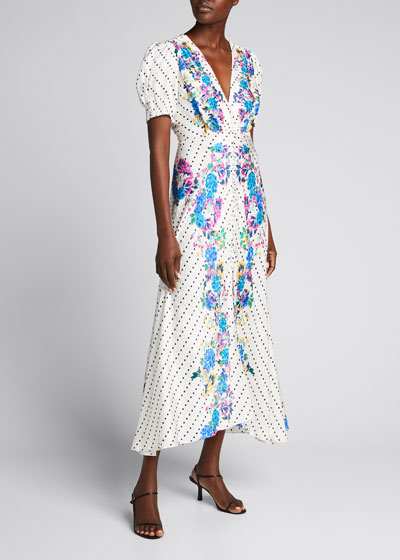 Lea Printed Long Dress