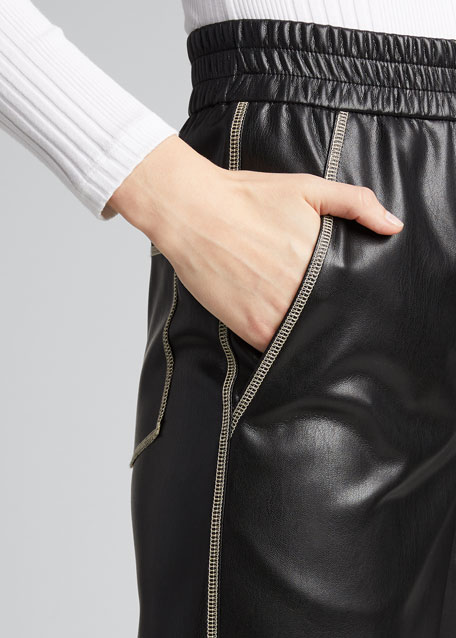 Selah Vegan Leather Ankle Pants