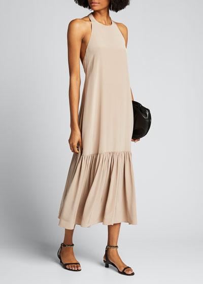 Eco Silk Halter Midi Dress