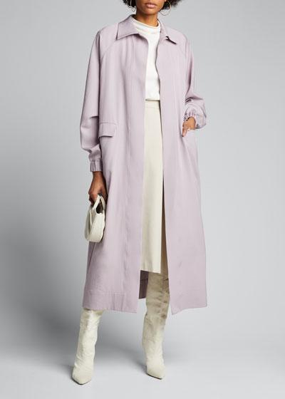 Fluid Long Virgin Wool Coat