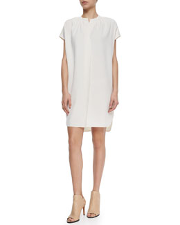 Short-Sleeve Popover Dress