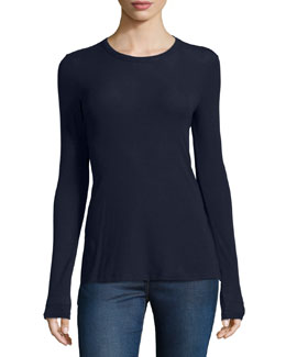 Alier Ribbed Long-Sleeve Tee