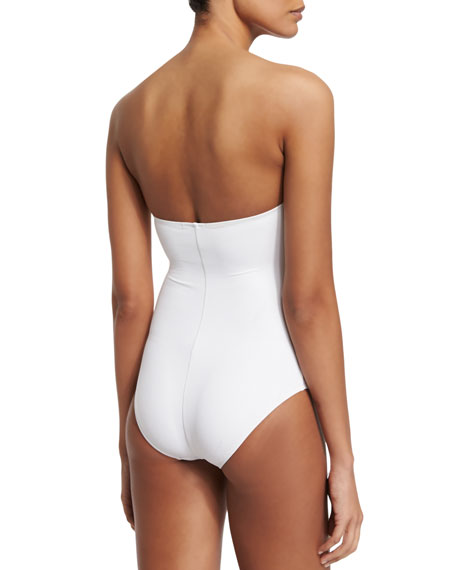 Essentials Bandeau-Top One-Piece Swimsuit