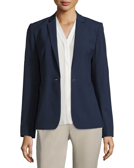 Image 1 of 1: Darcy One-Button Stretch-Wool Jacket