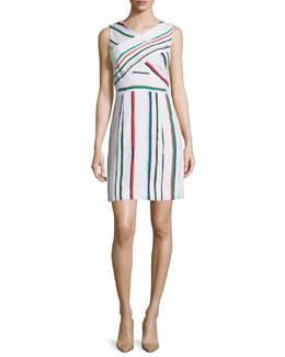 Allison St. Tropez Striped Dress, Multi Colors