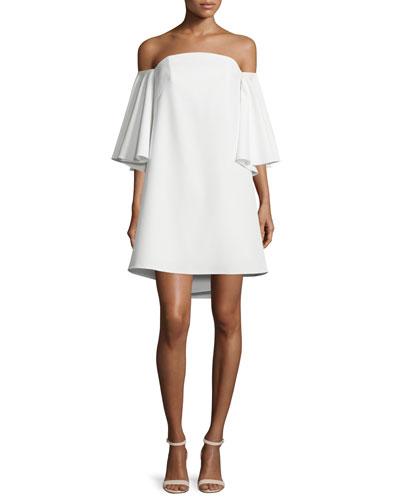 Mila Off-The-Shoulder Mini Dress, White