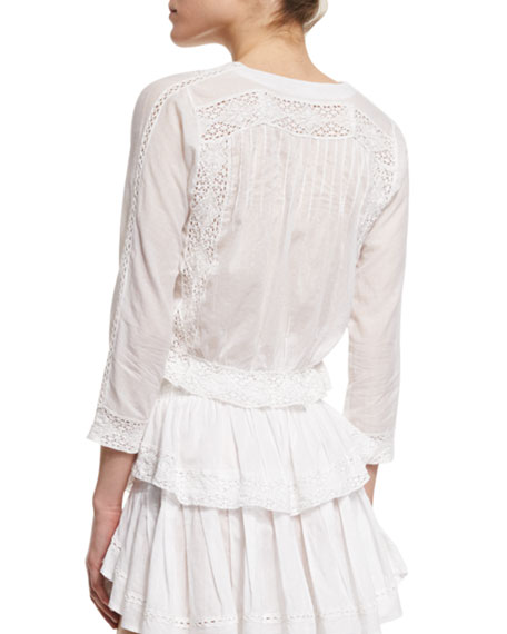 Victorian Blouse with Lace-Inset