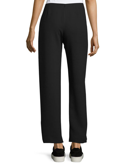 Side-Zip Twill Trousers