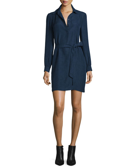 Seanna Belted Silk Shirtdress