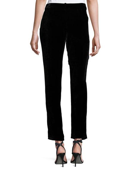 Alanis High-Sheen Cropped Pants