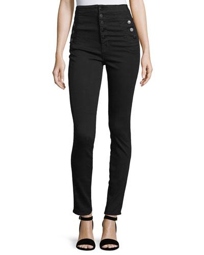 Natasha High-Waist Skinny Jeans  Black
