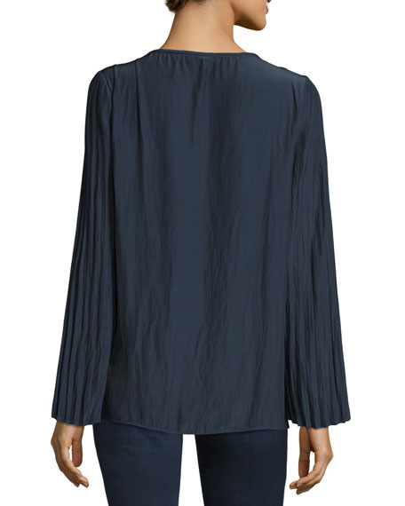 Amelia Long-Sleeve Peasant Top