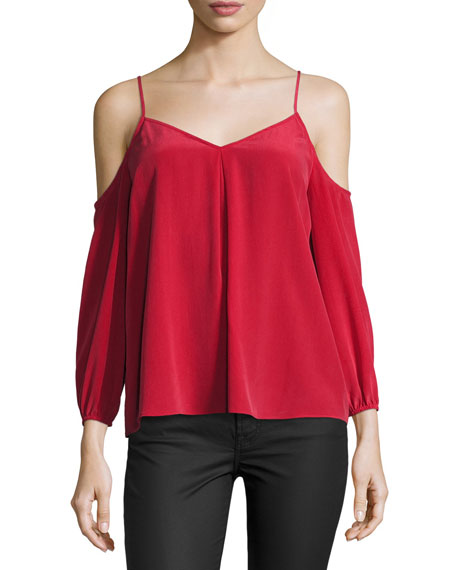 Eclipse Cold-Shoulder Flowy Blouse