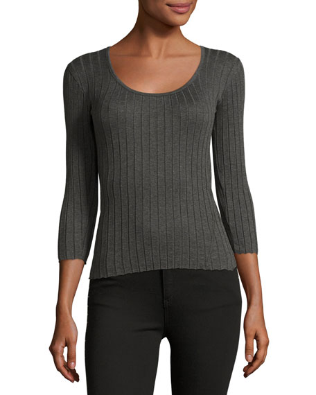 Tri Rib 3/4-Sleeve Top