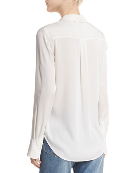 Slim-Fit Stretch-Silk Blouse