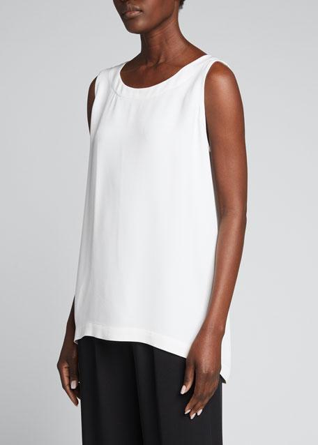 A-Line Silk Shell