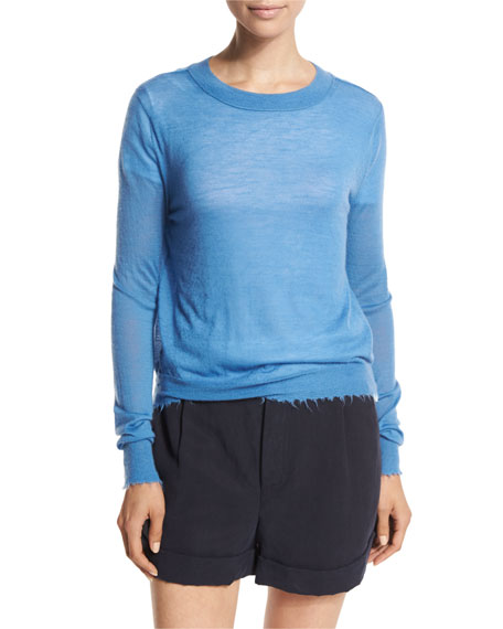 Raw-Edge Cashmere Sweater