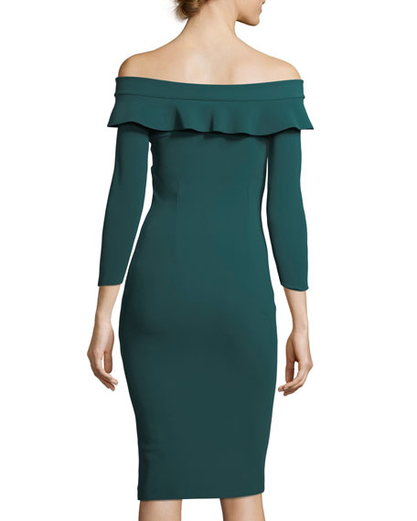 Nidia Off-the-Shoulder Fitted Cocktail Dress