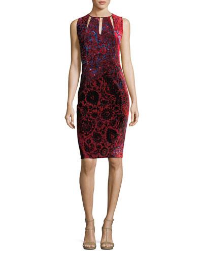 Jemra Sleeveless Printed Satin Dress