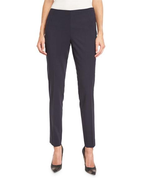 Stanton Full-Length Stretch-Wool Pants