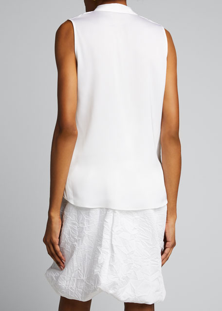 Mila Silk-Stretch Sleeveless Top