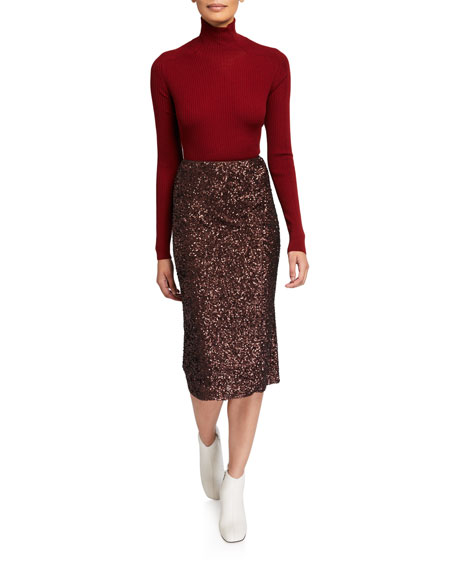 Casey Shimmering Sequin Pencil Skirt