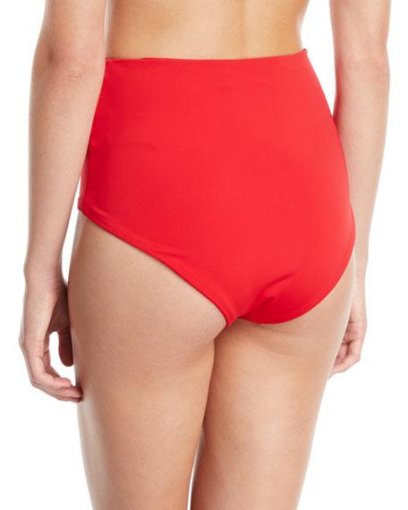 Lydia High-Waist Solid-Color Bikini Bottoms
