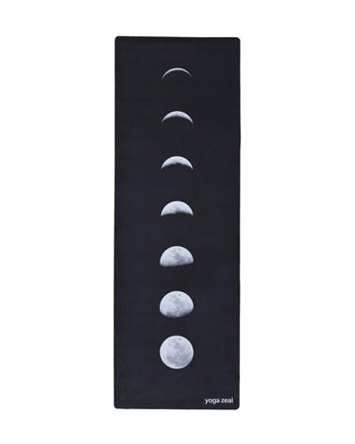 Black Lunar Printed Yoga Mat
